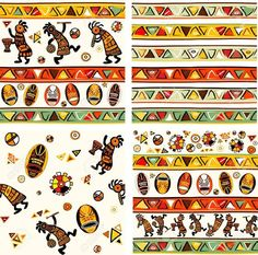 10064185-Collection-of-vector-seamless-background-with-african-traditional-patterns-Stock-Vector.jpg (Изображение JPEG, 1300×1288 пикселов)
