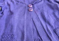 Chaqueta de punto realizada con perlé acrílico morado   El Rincón de Rakel Sweaters, Fashion, Sweater Vests, Jackets, Knit Jacket, Dots, Moda, Fashion Styles, Sweater