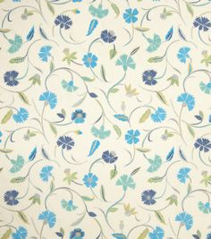 Home Decor Print Fabric-Eaton Square Discs Peacock