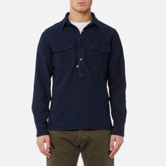 Edwin Men's Loggerhead Popover Shirt - Rinsed: Image 1