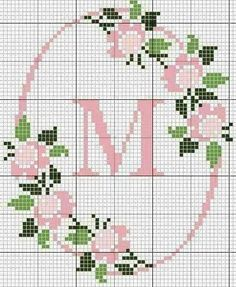 Easiest Crochet Frills Border Ever! Cross Stitch Letters, Cross Stitch Love, Cross Stitch Borders, Cross Stitch Flowers, Cross Stitch Charts, Cross Stitch Designs, Cross Stitching, Cross Stitch Embroidery, Embroidery Patterns