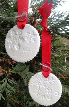 I love the idea of using stamps on clay to make ornaments. This is an excellent tutorial from the talented Heather Nichols.