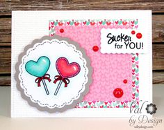 Your Next Stamp stamps, Doodlebug Papers, Copics {ValByDesign, 2016}