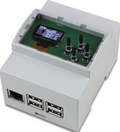 Réalisez vos propres prototypes avec ce boitier DIN pour Raspberry Pi intégrant un ecran OLED et quatres touches.