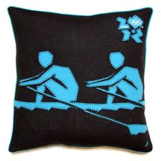 London 2012 Olympic and Paralympic Collection - Rowing Pictogram Cushion - £72.00