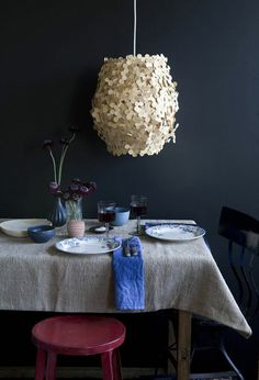 lovely hydrangea lamp!