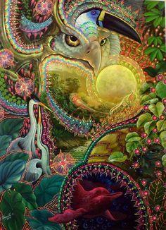 My mind and heart. Jorge Ramirez, Psy Art, Visionary Art, Psychedelic Art, Pretty Art, Illustrations, Fractal Art, Trippy, Dark Art