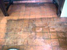▶ Terracotta floor tile cleaning - YouTube