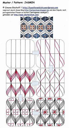 jasmin tangle pattern - Google Search