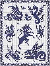 Resultado de imagen de free printable unicorn cross stitch patterns