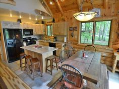 Vacation in Northwoods executive style and comfort at Cajun's Cove a beautiful vacation home rental on Lake Namakagon in Cable, Wisconsin only 20 miles from Hayward, WI. Vacation Home Rentals, Bedroom Loft, House Design, Cabin, Interior, Furniture, Home Decor, Decoration Home, Room Decor