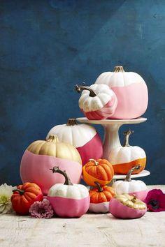 decorer une citrouille diy halloween rose