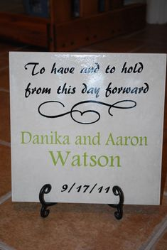 great idea using cricut & vinyl to make for wedding gifts
