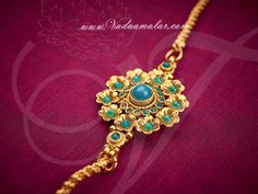 Antique design side pendant with long chain kodi mugappu for sarees Indian Bridal Jewelry Sets, Wedding Jewelry, Bridal Jewellery, Pendant Jewelry, Beaded Jewelry, Chain Jewelry, Antique Jewelry, Gold Jewelry, Gold Necklace