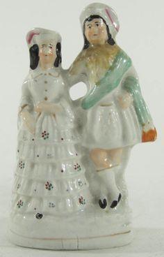 Antique Staffordshire Porcelain Figurine of a Couple - kilt!