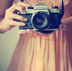 sweet dress. old camera.