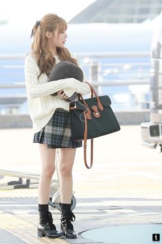 Tiffany #SNSD at the airport