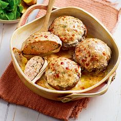 Portobello-Champignons mit Hackfleischfüllung Rezept | Küchengötter