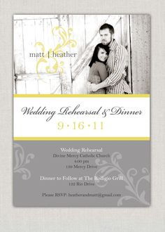 Wedding Rehearsal Dinner Invitation by announcingyou on Etsy, $15.00