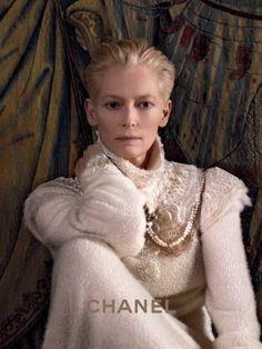 CHANEL PARIS-EDINBURGH   Tilda Swinton is the new face of Chanel Paris-Edinburgh 2013 ad campaign, shot by Karl Lagerfeld.