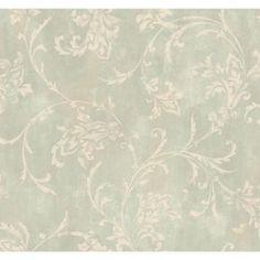 York Wallcoverings 60.75 sq. ft. Copper Damask Wallpaper-SS4384 - The Home Depot