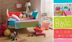 La ropa de cama infantil Sal de Coco es toda una revolución para el dormitorio, de repente se salpicará de color y alegría ofreciendo un ambiente muy agradable para los más pequeños.