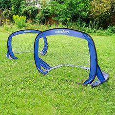 2 Pop-Up Soccer Football Goals Set For Children In Bag 120 X 80 X 80 Cm Kids NEW