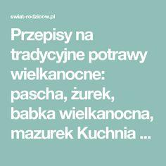 Przepisy na tradycyjne potrawy wielkanocne: pascha, żurek, babka wielkanocna, mazurek Kuchnia 2017 – Blog o dzieciach, dla rodziców - swiat-rodzicow.pl Blog, Blogging