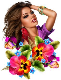 View album on Yandex. Cartoon Girl Images, Girl Cartoon, Girly Images, Pop Art Wallpaper, Cartoon Flowers, Girly Drawings, 3d Girl, Painting Of Girl, Digital Art Girl