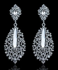 I shopped at Bridalorium for my jewelry, they were fantastic! Bridal Jewellery, Jewelry, Glamorous Wedding, Crystal Drop, Wedding Styles, Bling, Glamour, Drop Earrings, Crystals