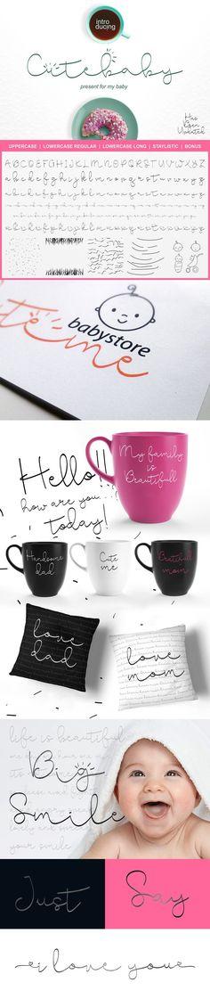 Cute Baby Script. Wedding Fonts. $15.00