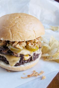 Crunchy Onion Jalapeno Burger from tryanythingonceculinary.com has the right amount of crunch and spice for your tailgate party!