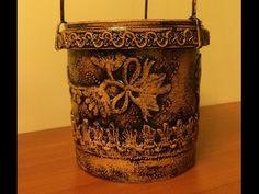 Цветочный горшок из майонезной банки (Flower pots of mayonnaise jars). - YouTube