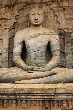 Bal Vihara Buddha sculpture, Polonnaruwa ancient capital ruins_ Sri Lanka