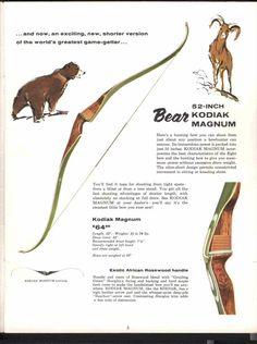 Disciplined 1967 Recurved Kodak Bear Bow Outdoor Sports
