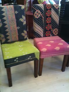 kantha dining chairs at CHAI studio