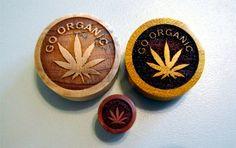 Custom Handmade Organic Go Organic Wood Plugs - You choose wood type/color and size 7/16 - 30mm