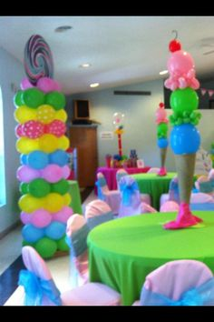 I make these amazing ice cream centerpiece for my dauther candyland party