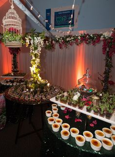 Boys & Girls Clubs of Sonoma Valley 2016 Sweetheart Gala Charity Gala, Garden Theme, Elaine Bell Catering Edible Garden dessert display