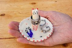 Your place to buy and sell all things handmade Shops, Cat Ring, Animal Rings, Ring Dish, Jewelry Holder, Small Gifts, Ceramic Pottery, Tuxedo, Valentine Gifts