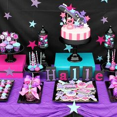 Rock & Roll Party Dessert Table