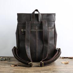 Handmade Full Grain Leather School Backpack Casual Travel | Etsy Leather School Backpack, Brown Leather Messenger Bag, Leather Laptop Backpack, Black Leather Backpack, Laptop Bag, Hipster Backpack, Travel Backpack, Leather Bicycle, Ipad Bag