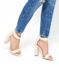 47fbd198d0c Stone Ankle Strap Block Heels Ankle Strap Block Heel
