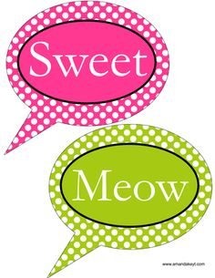 Speech Bubbles from Pink & Green Hello Kitty Set