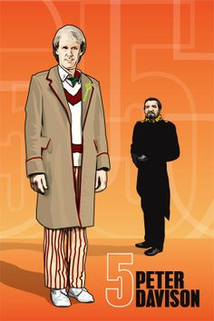 Doctor Who  Peter Davison and the Master  18 x 12 by DadManCult, $12.99