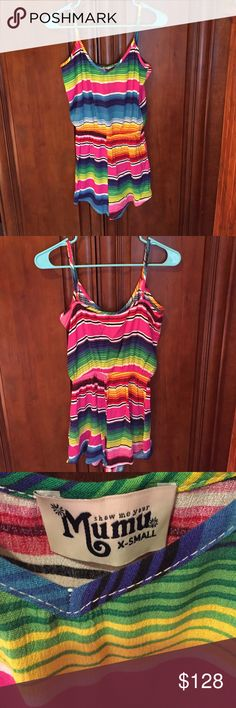 Show Me Your Mumu Rorey Romper Serape Party Size XS. worn twice and in excellent condition. There is a very small snag on the front shown in the last picture. Show Me Your MuMu Dresses