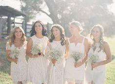 Boho Lace   Mismatched Bridesmaid Dresses