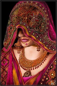 stunning beauty pics with super makeup intraditional dresses Indian Women Painting, Indian Art Paintings, Rajasthani Painting, Girl Drawing Sketches, Drawings, Art Nouveau, Henna, Bollywood, Indian Folk Art
