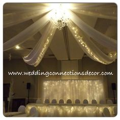 #weddingconnections #wedding #weddingdecorator #weddingbackdrop #weddingday #snowflakewedding #malahidecommunitycentre #malahidedecorator #stthomasdecorator #ceilingcanopy #springfielddecorator #londonareawedding #beautifulweddingvenue #winterwedding