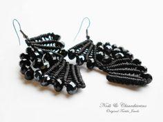 Anouk - orecchini a macramè - micromacramè earrings